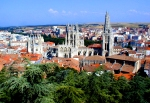Gorgeous views of Burgos Cathedral and the quaint town from uptop.