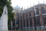 "Westminster Abbey has ""flying buttresses."""