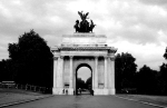Triumphal arch - built to honor a military victory